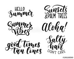 Tan Quotes Beauteous Summer Calligraphy SetBig Set Of Summer Quotes Isolated On White