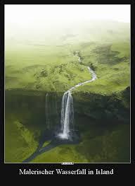 Malerischer Wasserfall In Island Lustige Bilder Sprüche Witze