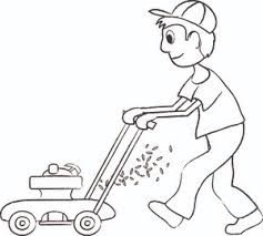 lawnmower drawing. lawn mower in grass clipart clipartfest 2 lawnmower drawing o
