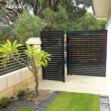 vertical aluminum fencing garden gate
