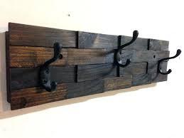 iron coat hooks wall mounted wooden wall mounted coat hooks interior rustic dark walnut wood wall