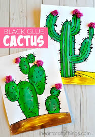 Small Picture Beautiful Black Glue Cactus Craft I Heart Crafty Things