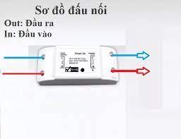 Bộ công tắc thông minh kết nối mạng wifi/3G/4G hẹn giờ bật tắt bằng