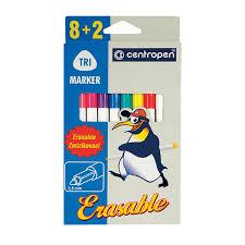 """Купить <b>Фломастеры CENTROPEN</b> """"Erasable"""", 8 цветов +2 ..."""