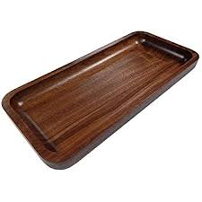 Irving Solid Walnut Wood Rectangular Display Platter / Tray - Small
