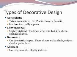4 Kinds Of Decorative Design