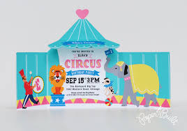 diy in the forest circus tent invitations view larger