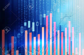 Code Stock Chart Abstract Forex Chart Background With Binary Code Trade And Computing