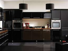 modern black kitchen cabinets. Kitchen:Fantastic Black Kitchen Decor With Modern Cabinet And White Backsplash Also Drum Shape Cabinets