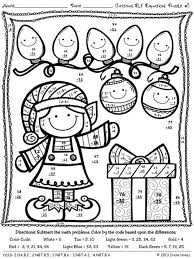 8 Christmas Themed Math Worksheets 5th Grade Math Coloring Pages