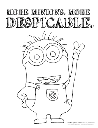 Pictures Of Despicable Me 2 Coloring Pages Lucy Rock Cafe