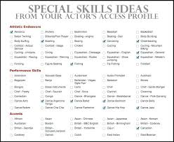 Examples Of Special Skills For Resume Key Skills For Resume Resume