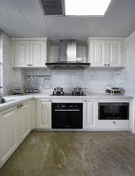 white l shaped kitchen cabinet design
