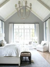 White Bedroom Ideas Inspiration For A Beach Style Light Wood Floor ...
