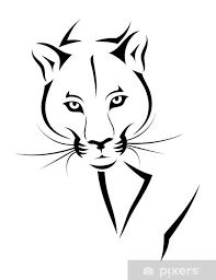Nálepka Cougar Tetování Pixerstick