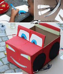 Decorating Cardboard Boxes krokotak DIY Cardboard Box Car 73