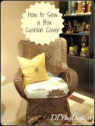how to sew a box cushion cover