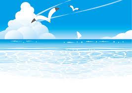フリーイラスト カモメが飛ぶ夏の海の風景でアハ体験 Gahag 著作権