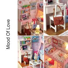 build dollhouse furniture. Wooden DIY Handcraft Pink Bedroom Dollhouse Miniature Kits · Zoom Build Furniture