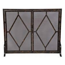 old world design double diamond fireplace screen 269 99 hayneedle