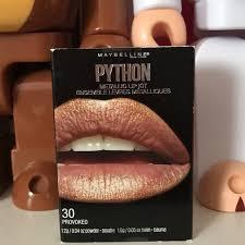 maybelline python metallic lip kit 30 provoked