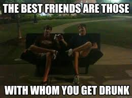 The best friends are those with whom you get drunk - Drunk futon ... via Relatably.com