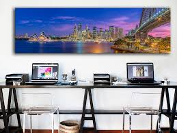 2016 rushed new painting sydney australia city panorama wall art picture for living room painting no