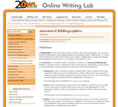 Owl Sample Annotated Bibliography Essays Hub