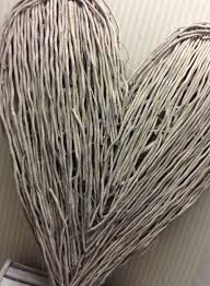 Large Wicker Heart With Lights Large Grey Wicker Heart Abode