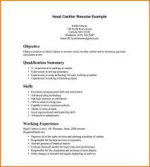 8+ cashier resume template