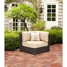 outdoor sectional home depot. Northshore Patio Corner Sectional Chair In Harvest With Regency Wren Outdoor Throw Pillow -- STOCK Home Depot O