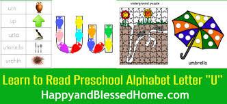 Learn to Read Preschool Alphabet Letter U 2 HappyandBlessedHome