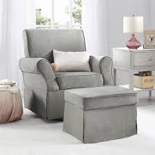 baby relax kelcie swivel glider ottoman set gray