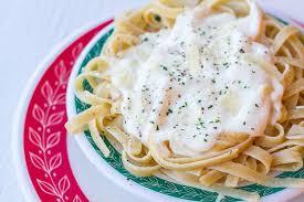 5 ing cream cheese alfredo sauce