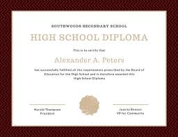 maroon formal high school diploma certificate templates by canva maroon formal high school diploma certificate