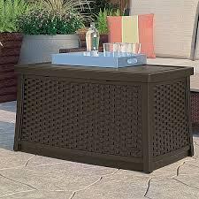 deck storage box brown end table patio