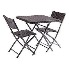 folding chairs set patio furniture set