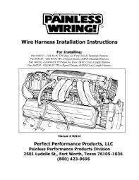 harness installation instructions wire harness installation instructions