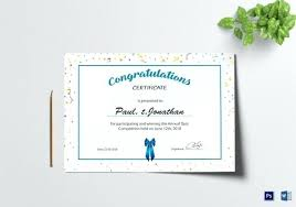 Congratulations Certificates Templates Congratulations Templates Gift Certificate Template Birthday