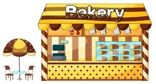 A Illustration Of Cakes Store Display Royalty Free Vector Graphics