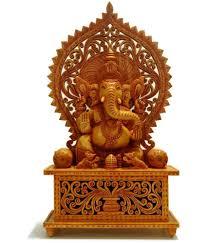 collectible india wood ganesha idol