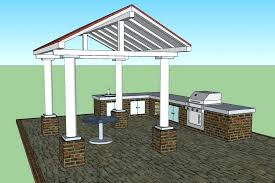 patio roof plans for home outdoor kitchen set photos patio traditional idea in outdoor kitchen roof coverings