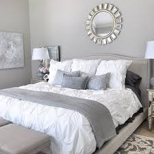 absolutely grey bedding idea 21 stunning and silver bedroom design headboard for wall red tan