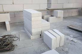 light weight concrete stack of white lightweight concrete block foamed concrete block stock photo image light weight concrete