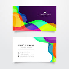 Template For Colored Waves Template For Business Card Vector Free Download