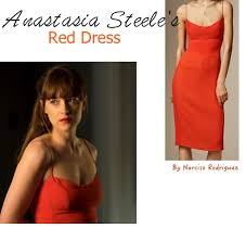 fifty shades darker movie fashion ana s red dress on screen style ana red dress 50 fifty shades darker dakota