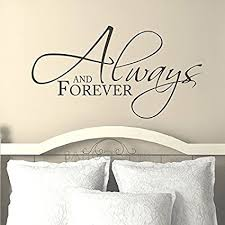 battoo bedroom wall decal quote always and forever master bedroom wall decal 30 quot w on wall decals quotes for master bedroom with amazon battoo bedroom wall decal quote always and forever