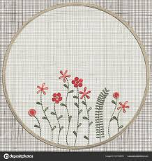 floral wall art embroidery home decor small flowers set of hand drawn doodles design elements linen cloth texture colorful floral folk pattern vector  on flowers wall art decor vector with embroidery floral pink flowers stock vector imhope yandex ru