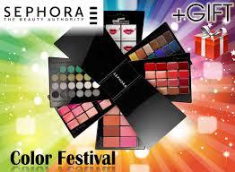 details about sephora makeup palette eyeshadow blush eyeliner lips color festival blockbuster