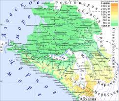 Краснодарский край Википедия Карта Краснодарского края